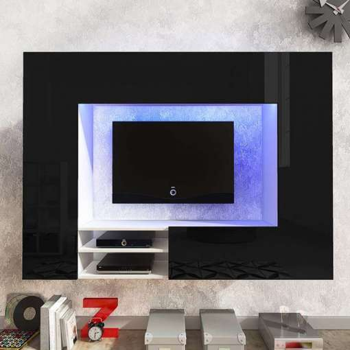 Net TV Wall Unit Black