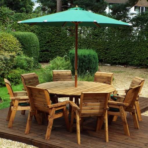 Eight seater round table set