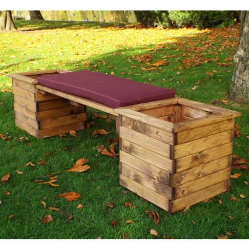 Square deluxe planter bench