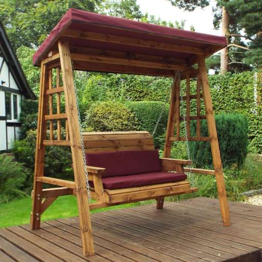 Dorset two seater swing burgundy