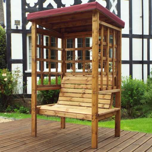 Bramham two seater arbour burgundy