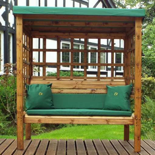 Bramham three seater arbour green