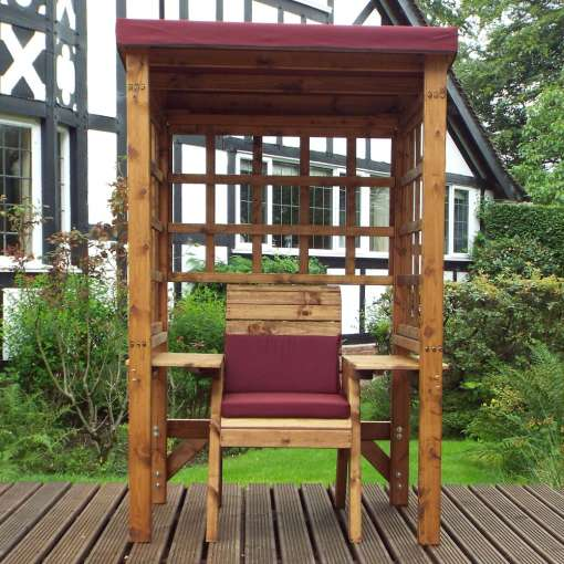 Wentworth one seater arbour burgundy