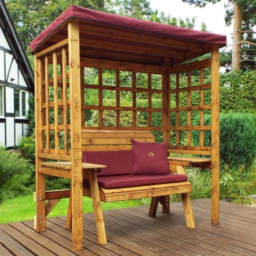Wentworth two seater arbour burgundy