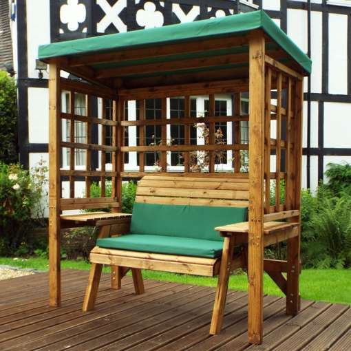 Wentworth two seater arbour in green