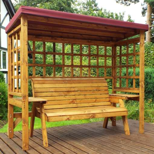 Wentworth three seater arbour burgundy