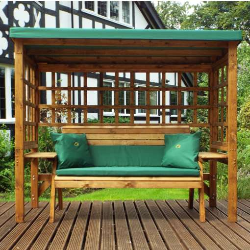 Wentworth three seater arbour green