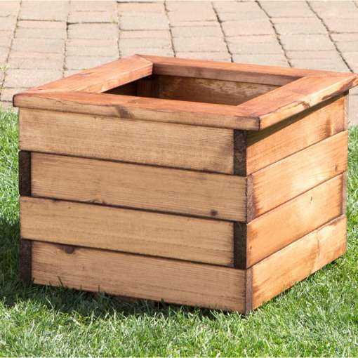 Small square garden planter