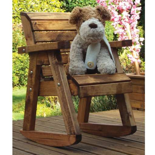 Children's wooden chair rocker